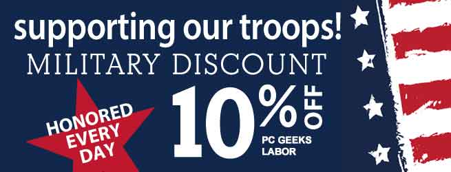PC Geeks Supports Our Troops!